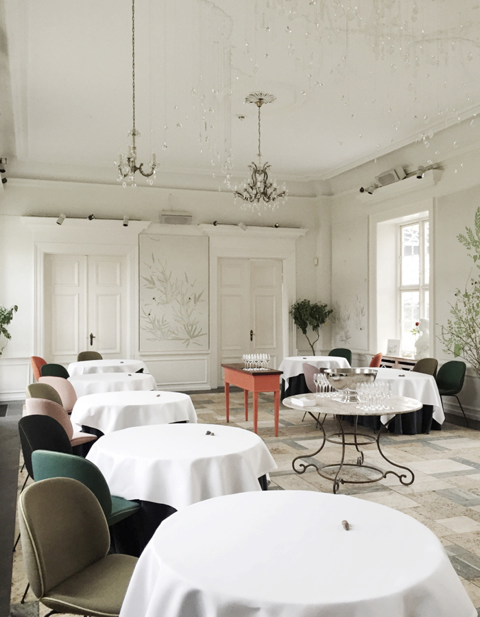 inspiring restaurant decor, mielcke & hurtigkarl, far and close, scandinavian interior, gubi beetle chair, Gamfratesi via http://www.scandinavianlovesong.com/